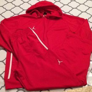 $80 like new red Nike air Jordan track suit large